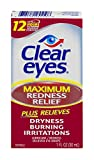 Clear Eyes Maximum Redness Relief Eye Drops 1 oz (Pack of 3)