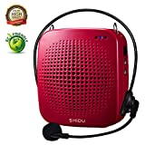 Portable Voice Amplifier 15W,SHIDU Personal Voice Amplifier Wired Microphone Headset Rechargeable Amplifier Micorphone Speaker Teachers,Coaches,Tour Guides,Outdoors,Elderly,Parkinsons