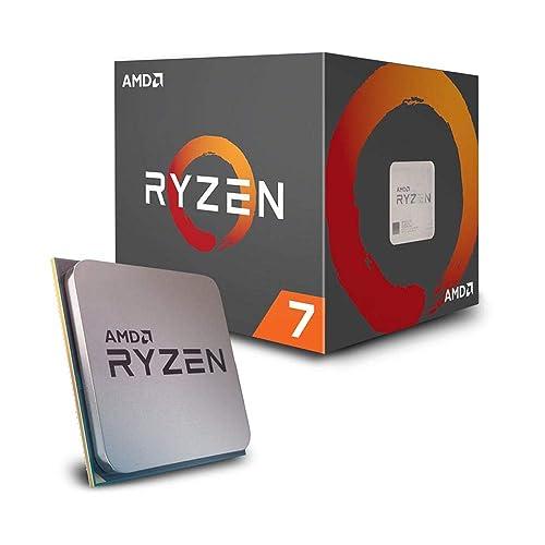 AMD Ryzen 7 2700 Procesador con disipador de calor Wraith Spire LED 20 MB 8 núcleos velocidad de 4 10 GhZ 65 W