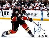 Corey Perry Anaheim Ducks Slap Shot Against Calgary Flames Signed 8x10 Photo