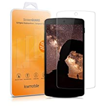 kwmobile Screen protector tempered glass for LG Google Nexus 5 in crystal clear - Premium quality