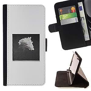 Momo Phone Case / Flip Funda de Cuero Case Cover - Pile Negro Blanco Rose Art - MOTOROLA MOTO X PLAY XT1562