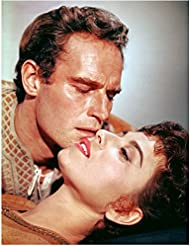 Charlton Heston 8 inch by 10 inch PHOTOGRAPH Planet of the Apes The Ten Commandments Ben-Hur from Shoulders Up About to Kiss Beautiful Woman kn