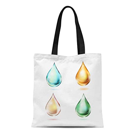 157d6e012369 Amazon.com: Semtomn Canvas Tote Bag Shoulder Bags Green Dew of ...