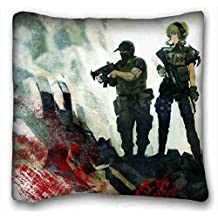 Custom Cotton & Polyester Soft ( Anime Steins Gate ) Standard Size Pillowcase for Hair & Facial Beauty Size 16x16 Inches suitable for X-Long Twin-bed PC-White-14080