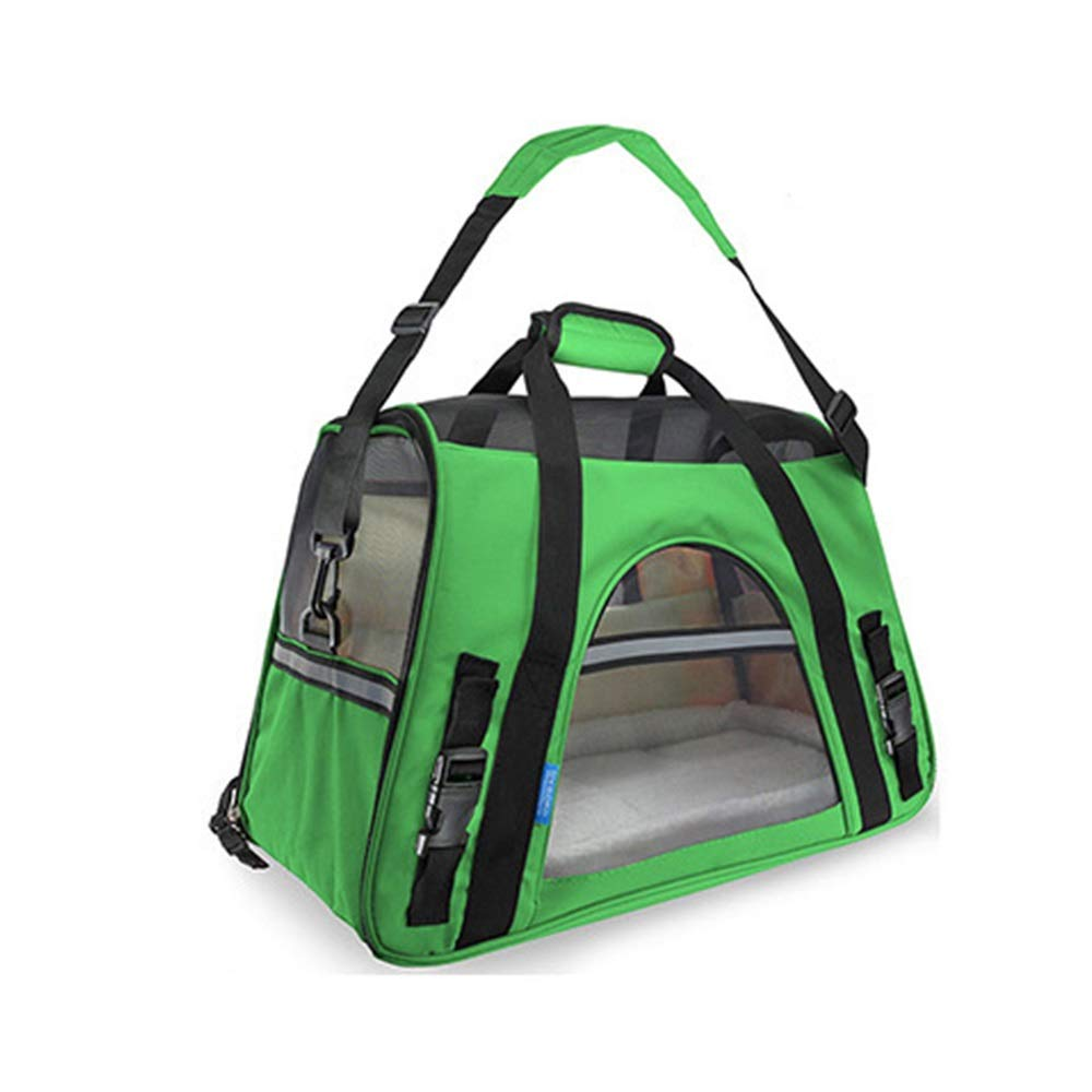 GREEN GYZ Pet Out Bag, Travel Bag, Suitable for Cats and Dogs, Designed for Travel, Outdoor pet Equipment, Comfortable, Breathable and Durable Bags  +-+  (color   Green)