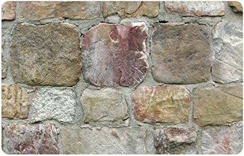 Faux Flooring Rock Wall Mat, 23 by 36-Inch, Multicolor
