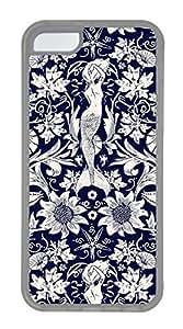 iPhone 5C Case, Personalized Custom Design iPhone 5C Rubber Soft TPU Clear Case Cover Mermaid