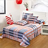Home Fashion Designs 3-Piece Reversible Quilt Set with Shams. All-Season Bedspread with Line Text Pattern,A,180 * 230