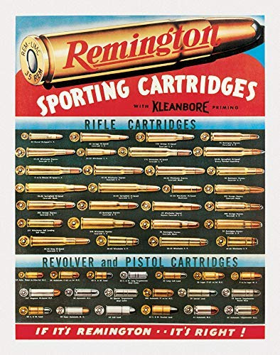 mdrqzdfh Large Vintage Signs Metal for Garage Remington Sporting Cartridges Tin Sign 12 X 18hunting Room Decor for Men