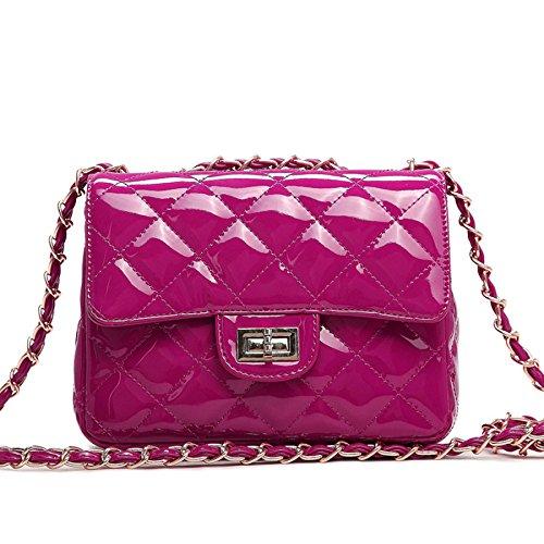 2018 Moda Charol Lingge Oro Cadena Acolchado Bolso De Hombro Mini Cuerpo Cruzado Mujeres Bolso Embrague Clásico Bolso De Noche Rose