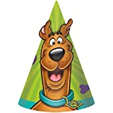 Amscan Awesome Scooby-Doo Birthday Party Cone Hats favor (Pack of 8), Multicolor, 6""