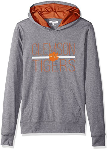 Levelwear LEY9R NCAA Clemson Tigers Women's Recovery Line EM Up Pullover Hoodie, Medium, Steel - Hoody Womens Ncaa
