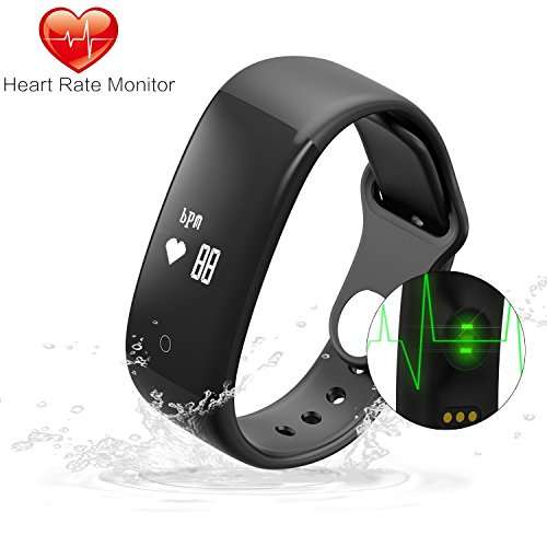Fitness Tracker Gosund C7 Heart Rate Monitoring Smart Bracelet Fitness Band with Pedometer Call SMS Reminder