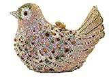 ILISHOP Women's Bird Clutch Bling Luxury Rhinestone Crystal Evening Bags Purse With Chain On Sale (Gold)