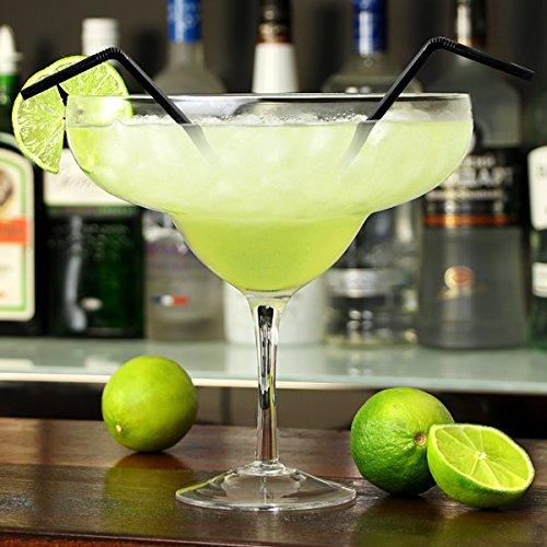 Giant Margarita de cristal 1.3ltr Giant precauci/ónde de c/óctel de cristal para decoraci/ón de bebidas y centros