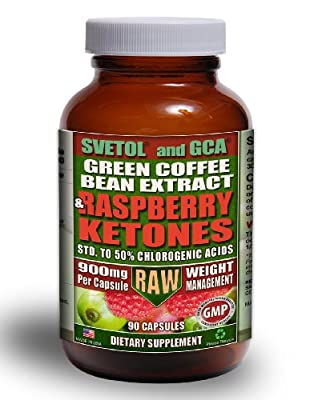 Green Coffee Bean Extract (800mg) combined with Raspberry Ketones (100mg) | MAX 50% Chlrogenic Acids from BSkinny Global
