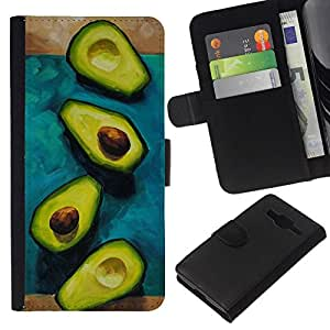 All Phone Most Case / Oferta Especial Cáscara Funda de cuero Monedero Cubierta de proteccion Caso / Wallet Case for Samsung Galaxy Core Prime // Aguacate tuerca de corte