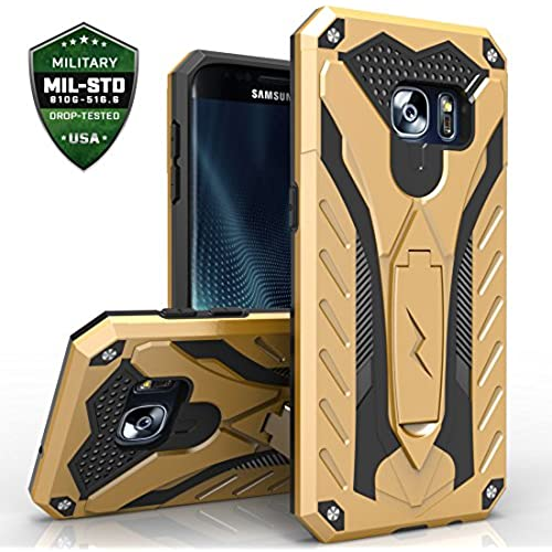 Samsung Galaxy S7 Edge Case, Zizo [Static Series] Shockproof [Military Grade Drop Tested] with Kickstand [S7 Edge Heavy Duty Case] Impact Resistant Sales