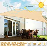 MOVTOTOP Sun Shade Sails 10x13 FT Rectangle, 185