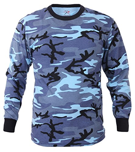 - Rothco Long Sleeve T-Shirt, Sky Blue Camo, X-Large