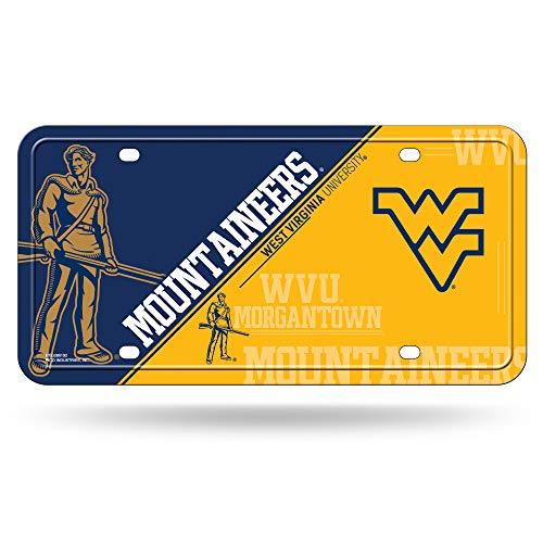 (NCAA West Virginia Mountaineers Metal License Plate Tag)