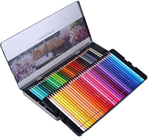 72-Count Premier Colored Pencils for Adult Coloring Books Handmade Canvas Pencil Wrap,Extra Accessories Included Premium Artist Colored Pencil Set Holiday Gift Oil based Colored Pencils