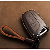 KMT Calf Leather Keyless Entry Remote Control FOB