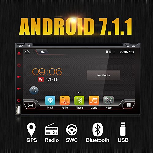 "2G 32G Wifi Model Android 7.1 4-Core 6.95"" Universal Car DVD CD player 2 din Stereo Navigation support Bluetooth OBD2/DBA/Subwoofer/TPMS/Mirror Link/USB up to 128GB free Camera"