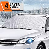 MATCC Car Windshield Snow Cover Winter Frost Guard Windshield Snow and Ice Cover Thicker Snow Protection Cover Fits Most of Car