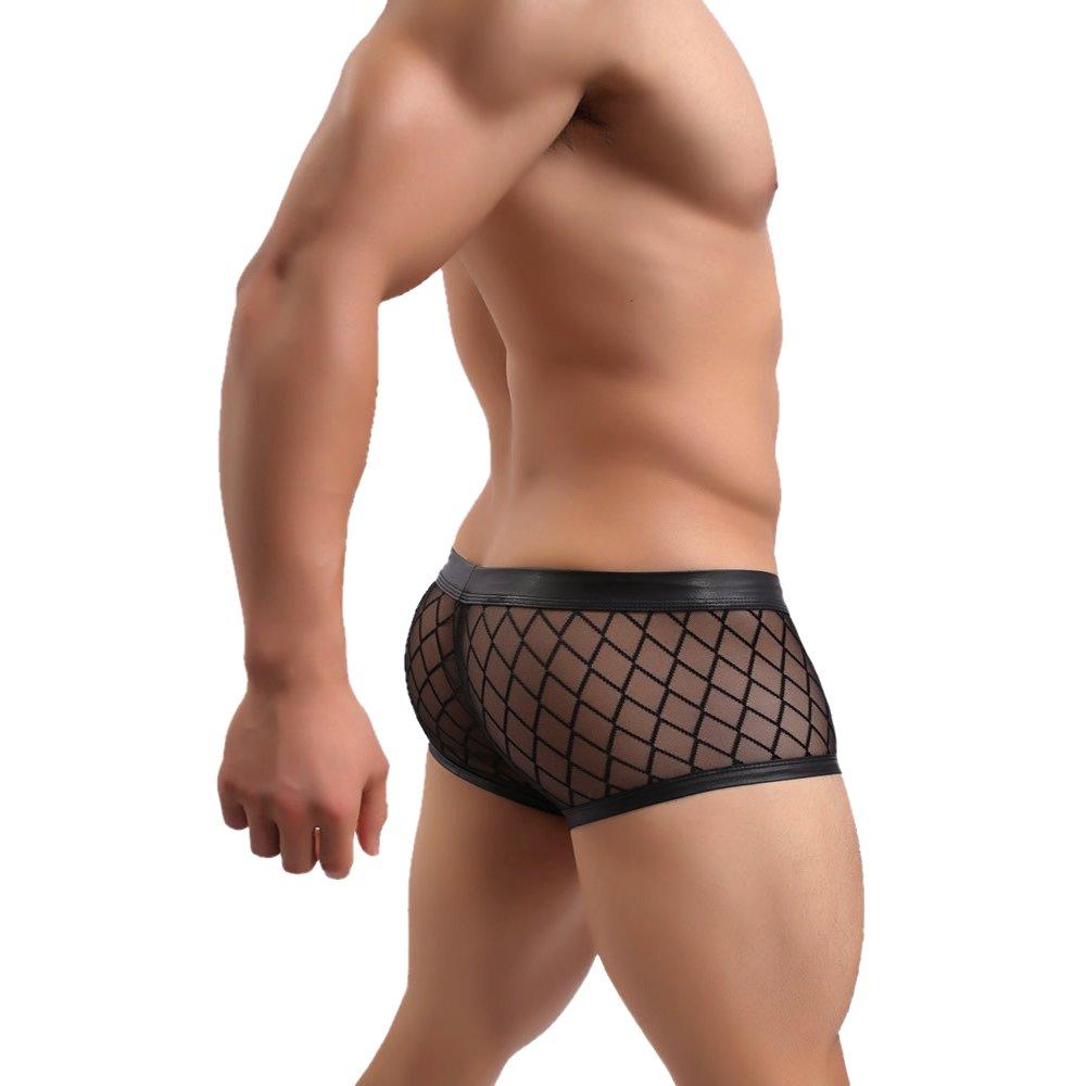 Chris& Je See-Thru Mesh Clubwear Boxer Brief Thong