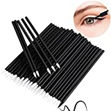CENFRY Disposable Eyeliner Brushes Applicator Makeup Eye Liner Wands (1000pcs, white head)