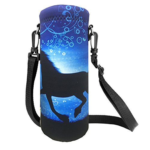 - AUPET Water Bottle Carrier,Insulated Neoprene Water bottle Holder Bag Case Pouch Cover 1000ML or 750ML,Adjustable Shoulder Strap, Great for Stainless Steel and Plastic Bottles, Sport and Energy Drinks