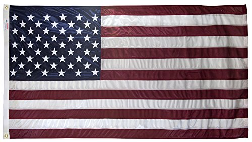 Valley Flag Nylon Forge - 4x6 Foot U.S. American Flag Valley Forge Flag Duratex II Poly Commercial Fully Sewn