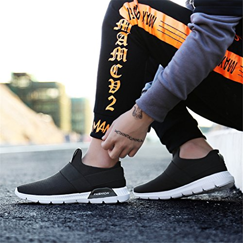 Zapatillas Hombres Zapatos Negro Deporte Deportivos de de Zapatillas Para de Deporte Zapatos Caminar Hombre Para de Ligero Gimnasia Peso tEEwnBPUOq