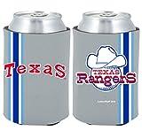 Texas Rangers 2-PACK CAN Retro THROWBACK Koozie Neoprene Holder Cooler Coolie Baseball