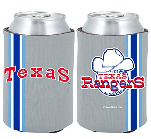 - Texas Rangers 2-PACK CAN Retro THROWBACK Koozie Neoprene Holder Cooler Coolie Baseball