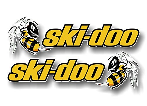 2 Ski-Doo Killer Bee 9″ Vinyl Decals Snowmobile Summit Sled MXZ Graphic Skidoo Stickers ((2) 2.5″x 9″ Decals)