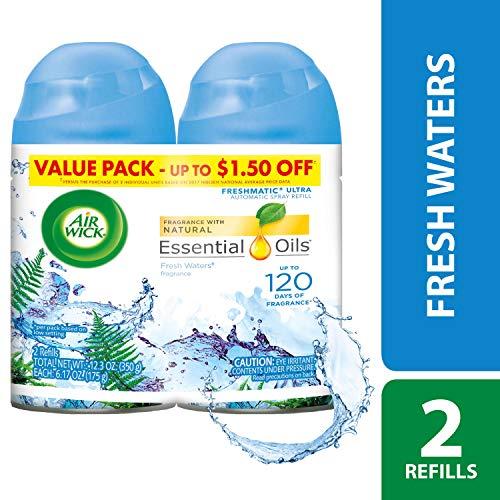 (Air Wick Freshmatic Refills Automatic Spray, Fresh Waters, 6.17oz,2)