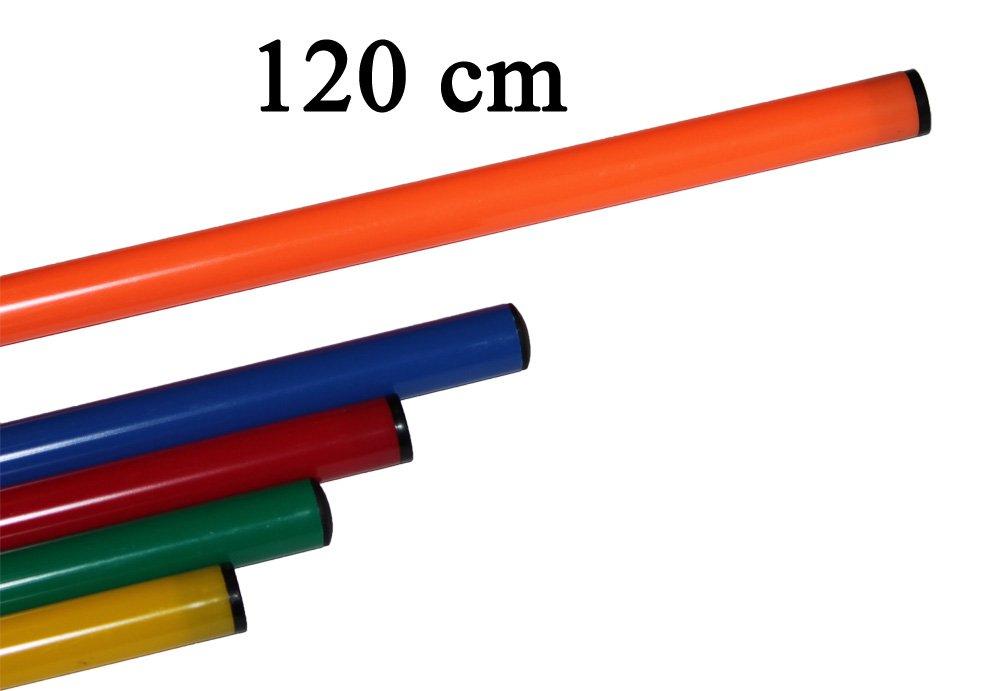 10er Set Stangen 120 cm, verschiedene Farben Farbe: orange