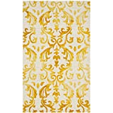 Safavieh Dip Dye Collection DDY689A Handmade Geometric Watercolor Ivory and Gold Wool Area Rug (3′ x 5′) Review