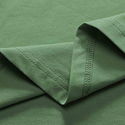 Été Vert Femme Femme Robes Robe Couleur de de Décontracté Daily Hei Ba Unie Décontractée sans Robe Slim Zha Manches qBtfxxSEUw