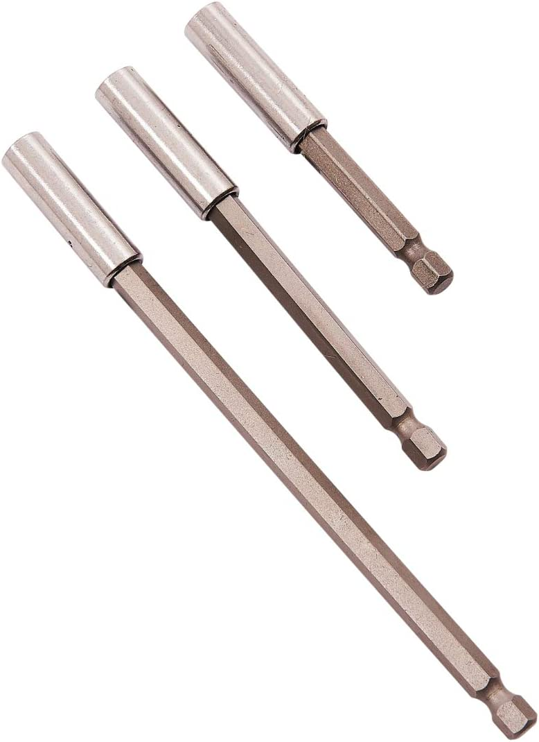 1//4-Zoll-Sechskantschaft Silverline 868528 Magnetischer Schnellwechsel-Bithalter 65 mm