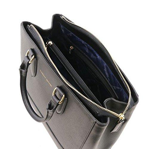 Tuscany Leather TL Bag Borsa a mano in pelle Saffiano - TL141638 (Rosso Lipstick) Nero Aclaramiento De Salida De Fábrica Sitios Web En Línea Barato bHIuIMjB