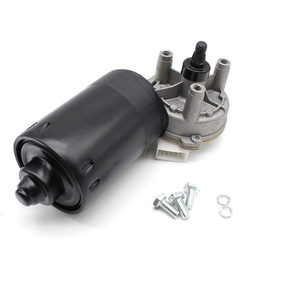 Yiyiby - Motor de limpiaparabrisas cuadrado de 5 polos (lado de montaje: delantero, 12 V 40 W) para 98-02 Golf MK4 1E7 Cabriolet: Amazon.es: Coche y moto