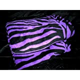 King Zebra Fleece Blanket Purple and BlackSuper Soft New