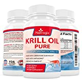 Natrogix 1000mg Antarctic Krill Oil with 540mg Omega3, Real Highest Potency of Omega-3 Fatty Acids EPA & DHA on the Market (60 Softgels)