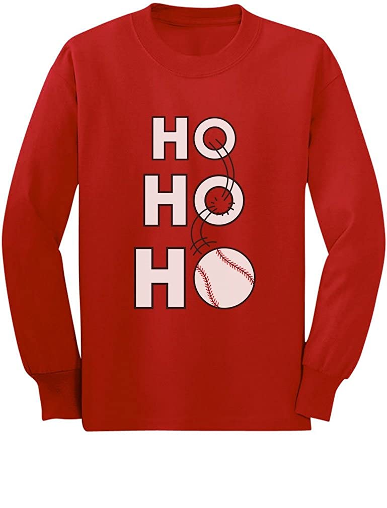 Ho Ho Ho for Baseball Lovers Toddler//Kids Long Sleeve T-Shirt