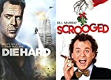 Men's 80's Christmas Classics DVD Combo Set- DIE HARD & SCROOGED (2 DVD Set) COMEDY/ ACTION