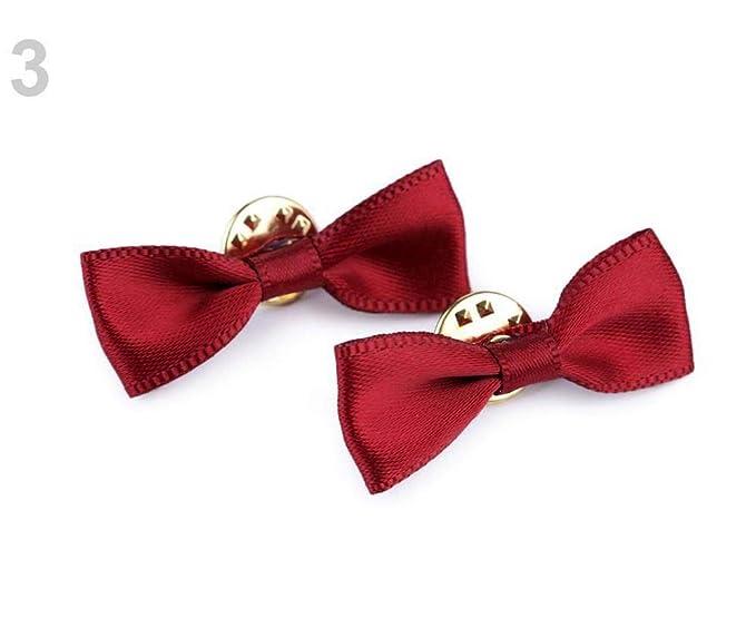 2pc 3 Luz Vino Moño Rojo En el Pin/Mini Corbata de lazo Para la ...